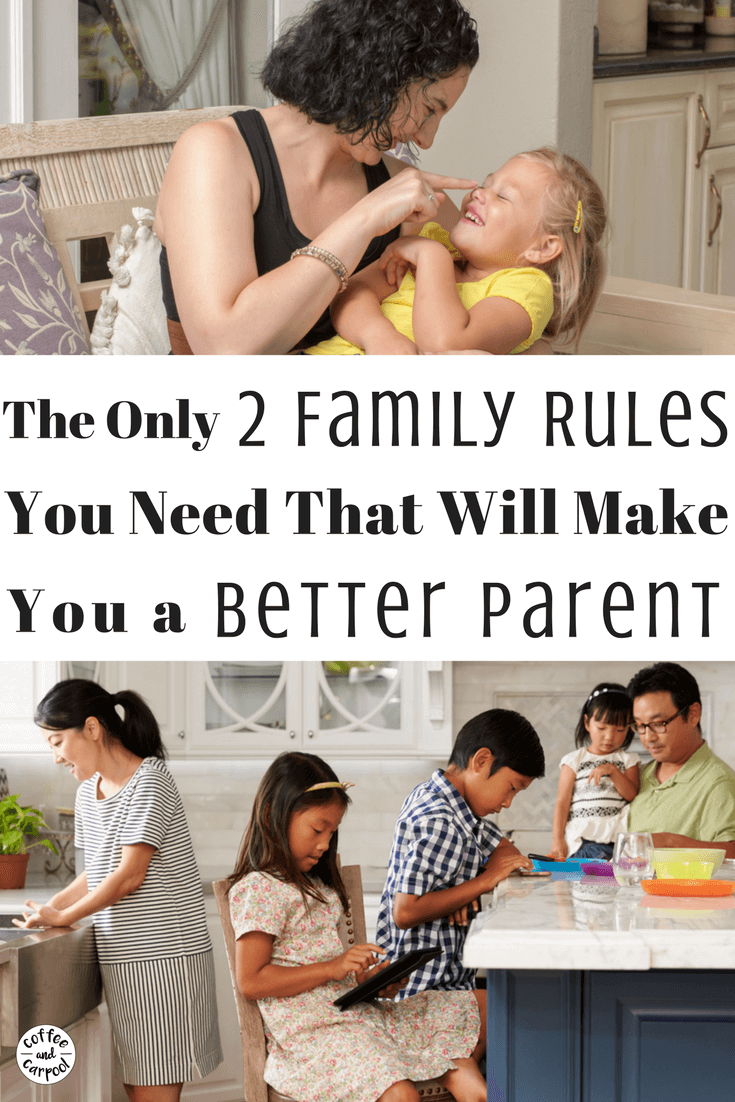 Do you want your kids to follow your family rules but don't know which ones to enforce. This is so simple. These are the only two family rules you will need so you can stop nagging and yelling and can enjoy your kids more. #familyrules #parentingadvice #parenting101 #positiveparenting