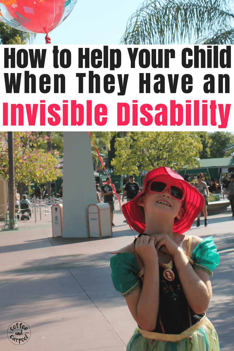 If your child has an invisible disability or a hidden disability, they can be discriminated against because they don't look special needs 'enough.' Here's how we can help our kids with special needs who don't look different, but still need accommodations. #specialneedsparenting #specialneeds #invisibledisability #hiddendisability #sped #specialneedsmom #coffeeandcarpool
