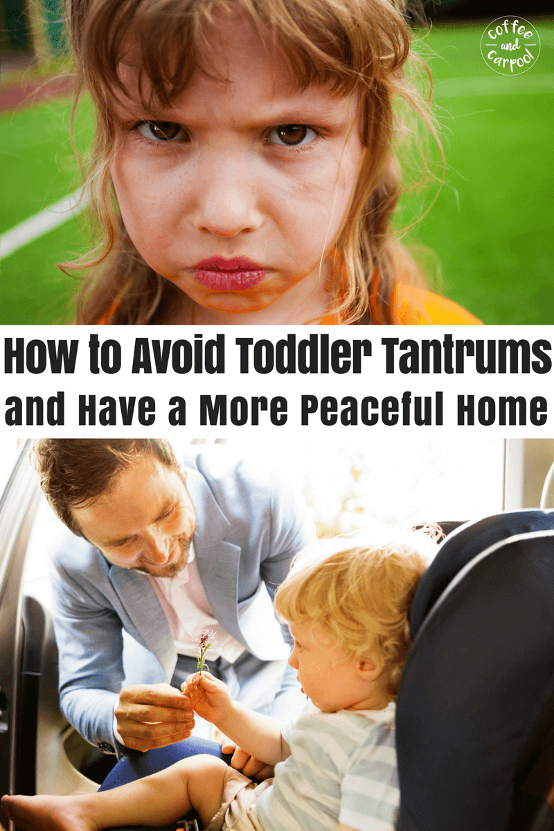 Avoid toddler tantrums with this one simple change. #freeprintable included #toddlerparenting #toddlertantrums #toddlertempertantrums #parentinghack #parenting101 #positiveparenting #coffeeandcarpool
