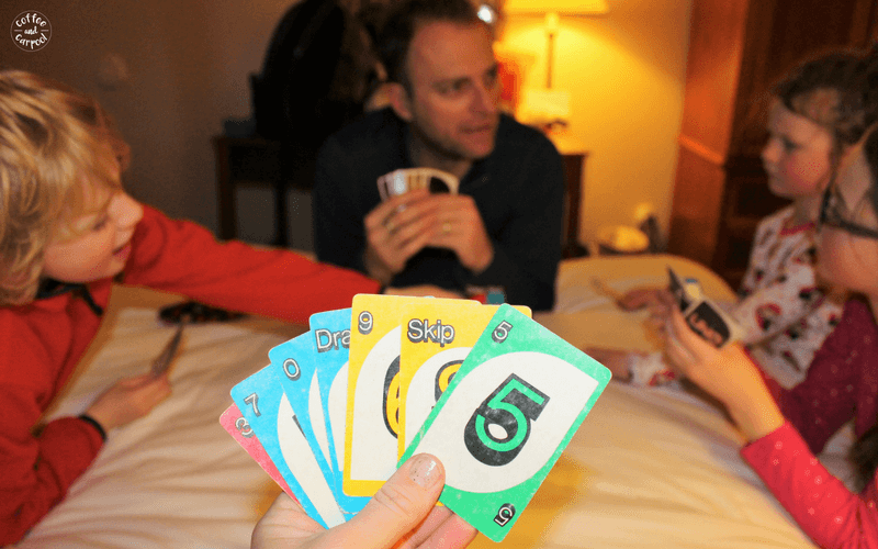 Uno is always packed in our hotel bag for family vacations and trips to entertain us all #familyvacations #familytrips