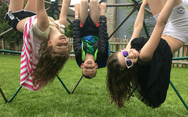 When my kids have to entertain themselves and be forced to be bored, they come up with fun things to do together. #staycation #campmom #summerideas #summerfun #coffeeandcarpool