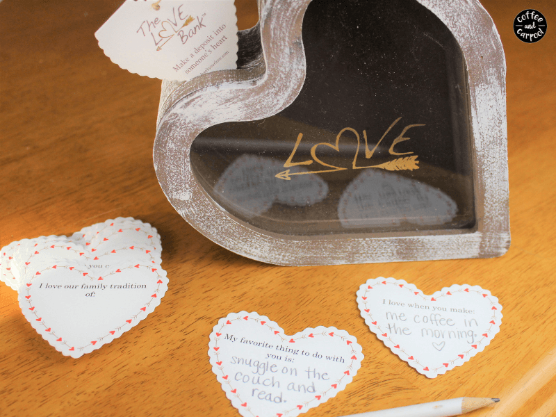 Spread love among your family with these love notes and this love bank. #lovebank #familyconnection #familyidentity #family #parenting101