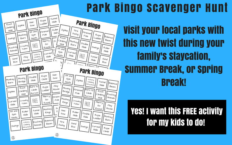 Make going to the park more fun with these free printable park bingo scavenger hunt games #freeprintable #coffeeandcarpool #summerideas #summerfun #parkideas #campmom