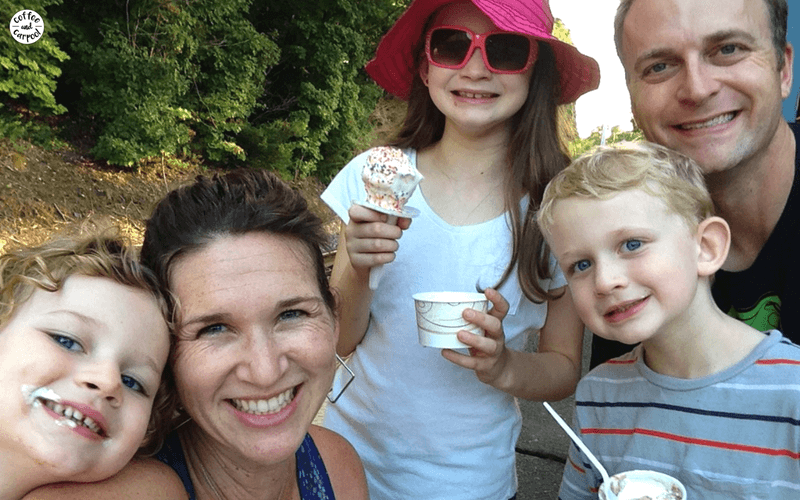 To create a strong family identity, we have family date nights that consist of going to a bookstore and eating ice cream together #familydatenight #familyidentityideas #familyidentityactivities #parenting101