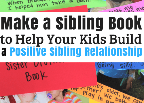 Create a sibling book to help your children have a stronger sibling relationship #parentingsiblings #siblings #siblingrivalry #strongfamilyrelationship #strongfamilyidentity #coffeeandcarpool #siblingcraft