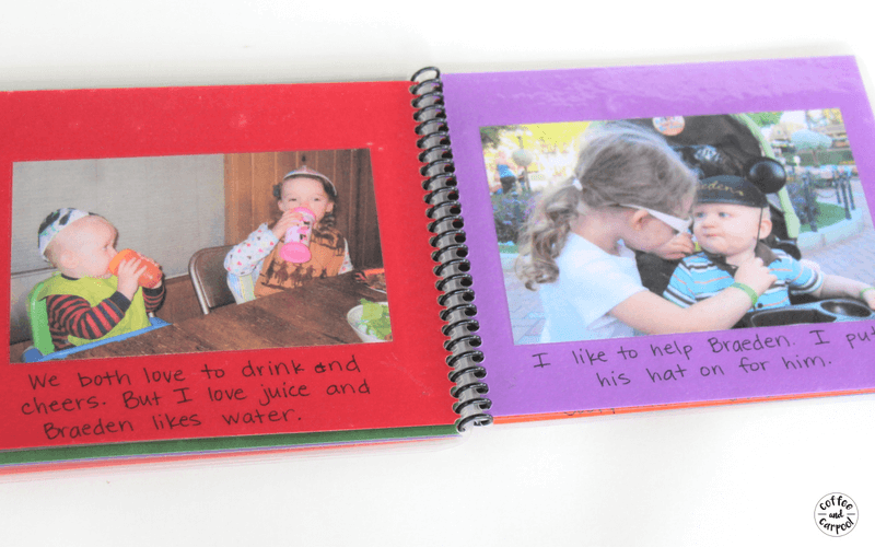 Sibling books are a great way for our kids to connect with each other and improve their sibling relationship #siblinggoals #siblingrelationships #parentingsiblings #siblings #siblingbook #coffeeandcarpool