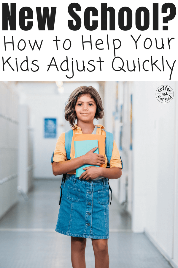 Help your kids adjust to a new school with this simple back to school tips and tricks #backtoschool #backtoschooltips #newkidatschool #newschool #coffeeandcarpool #backtoschool #newkid