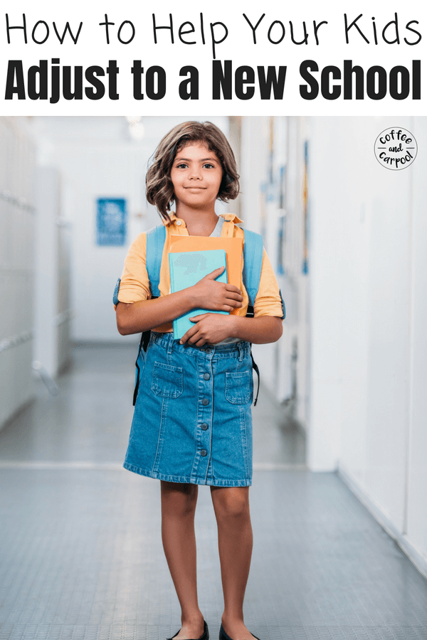 Help kids adjust to a new school with these tricks to help them fit in #newschool #backtoschool #adjusttoanewschool #btstips #backtoschooltips #coffeeandcarpool #newschool #newschooltips