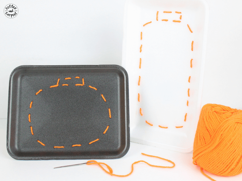 Teach kids to sew with this pumpkin sewing craft perfect for fall, Halloween, and Thanksgiving. #halloweencraft #pumpkincraft #pumpkinsewing #learnhowtosew #fallcraft #kidscrafts #Halloween #fall #autumn