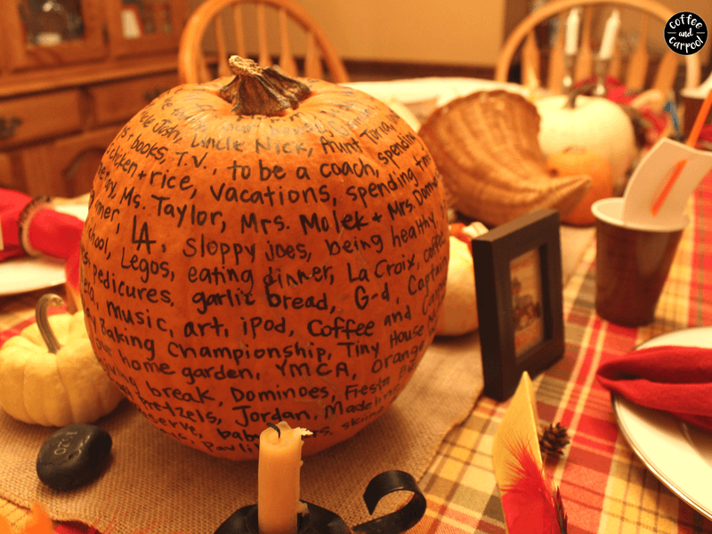 How to Celebrate Thanksgiving with a Gratitude Pumpkin