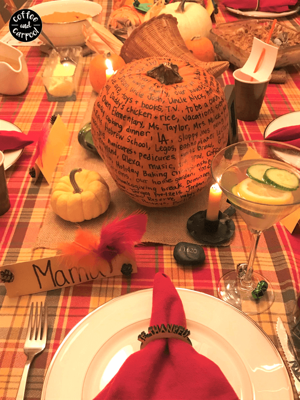 Gratitude Pumpkin- helping kids understand what we're thankful for and why it's important #thankful #grateful #gratitude #gratitudeactivity #Thanksgivingactivity #Thanksgivingdecoration #gratefulpumpkin #coffeeandcarpool #teachkidstobethankful