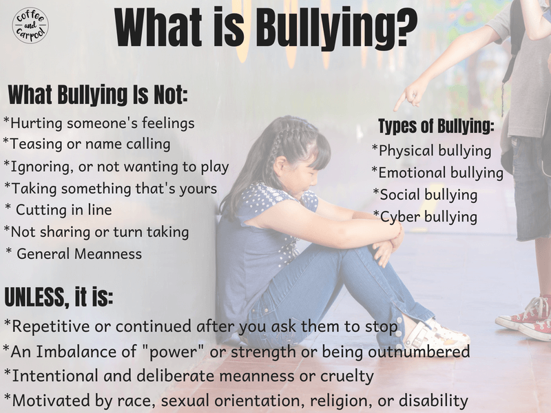 What is Bullying? The True Definition of Bullying and why you need to know it #bullying #bullyingprevention #antibullying #stopbullying #whatisbullying #bully #parenting101 #positiveparentingtips