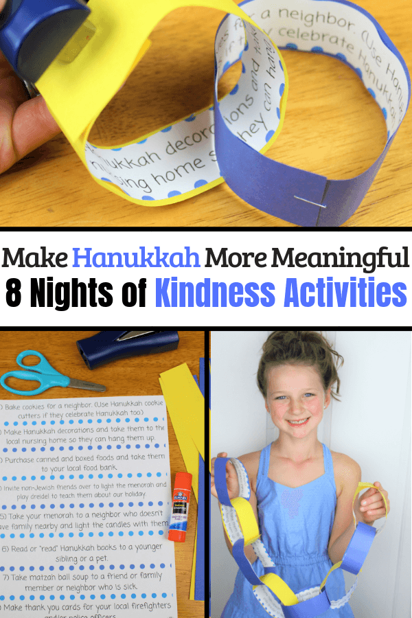 8 Nights of Kindness with these Hanukkah Kindness Acitivities #hanukkahcrafts #jewishcrafts