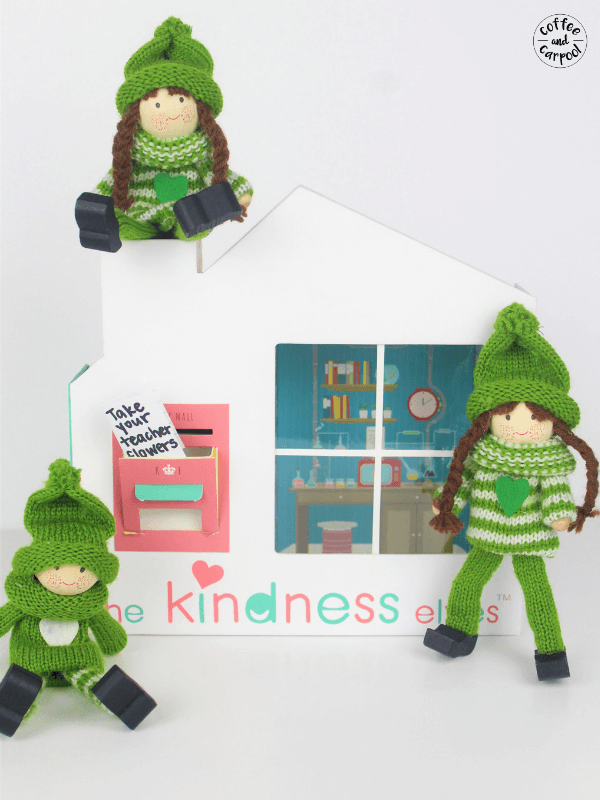 Kindness elves bring notes that inspire kindness in our children #inspirekindness #encouragekindness #bekind