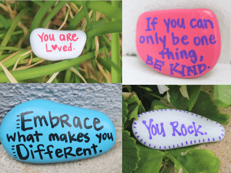 Kindness rocks are a simple project that can help spread kindness, happiness and positive vibes. #kindnessrocks #bekind #raisekindkids #raisekind #choosekind #coffeeandcarpool