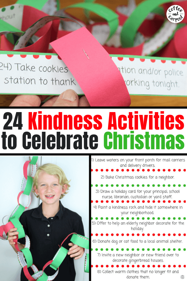 Christmas Kindness Activities: 24 Days of December Kindness Activities to Celebrate Christmas with #ChristmasKindness #raisekindkids