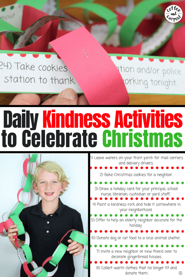 24 Christmas Kindness Activities for December #kindkids #KindChristmas