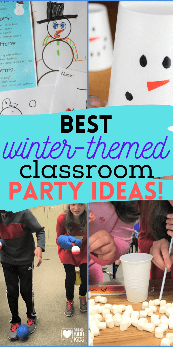 Best Winter-Themed Classroom Party Activities kids will love #classroompartyactivities #classroomparties #holidayparties #coffeeandcarpool #winterparties