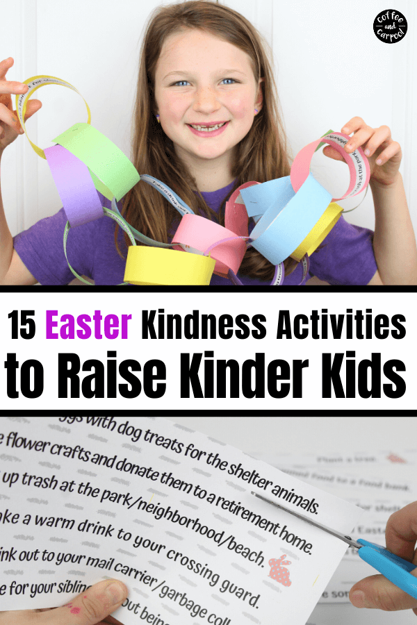 15 Easter Kindness Activities to help kids remember to be kind to those around them as they couuntdown to Easter. #kindnessactivities #kindness #kindkids #easteractivities #eastercraft #paperchain #eastercountdown