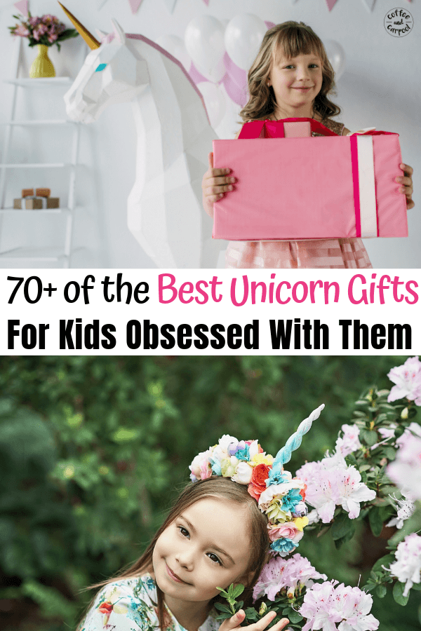 The Best unicorn gifts for kids obsessed with unicorns: unicorn clothes, unicorn books, unicorn accessories, and unicorn crafts. These unicorn gift ideas are perfect for birthday lists, Christmas gifts, and Easter gifts #unicorns #unicorn #unicorngifts #giftideas #giftlist #holidaygifts