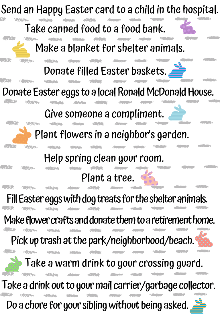 24 Easter Kindness Activities to help kids remember to be kind to those around them as they couuntdown to Easter. #kindnessactivities #kindness #kindkids #easteractivities #eastercraft #paperchain #eastercountdown