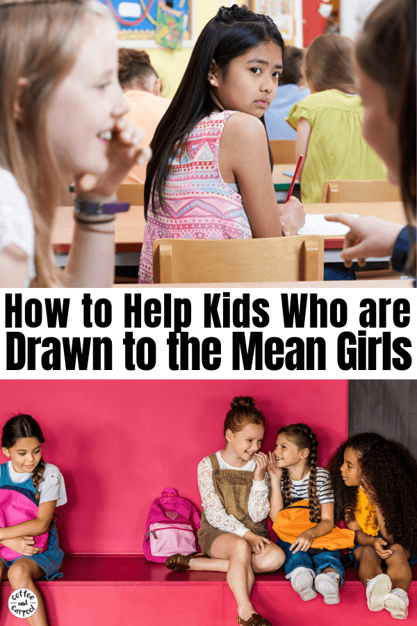 Help your kiddos who want to be kind but get caught up in peer pressure and are drawn to mean girls at school. Help your kids remember their kind and help them stay kind by showing them how to be a good friend. #goodfriend #peerpressure #meangirls #coffeeandcarpool #parenting