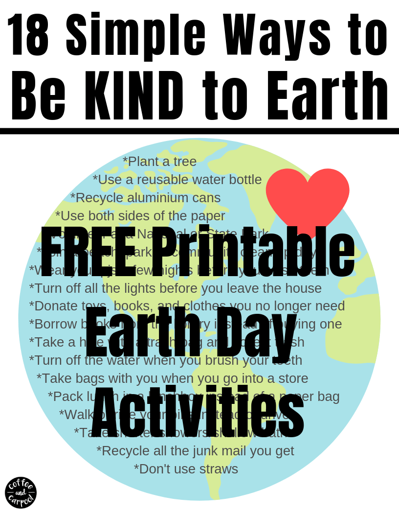These Earth Day activities for kids are perfect to help kids be kind to Earth. Celebrate April 22nd with these reduce, reuse and recycle ideas and Earth Day activities elementary students. #earthday #reducereuserecycle #bekind #Earth #earthdayactivities