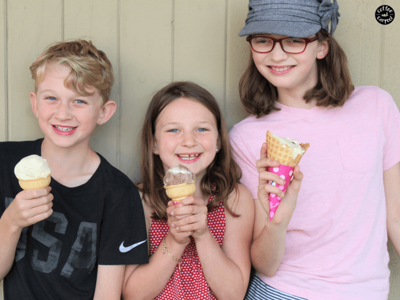 Are you parenting siblings? If you want them to be kinder to one another, try this unique ice cream kindness challenge to encourage them to be kinder to their sisters and brothers. Includes a free printable. #kinderkids #raisekindkids #siblings #parenting101 #parenting #parentingsiblings #kindnessmatters #kindnesschallenge #freeprintable #coffeeandcarpool