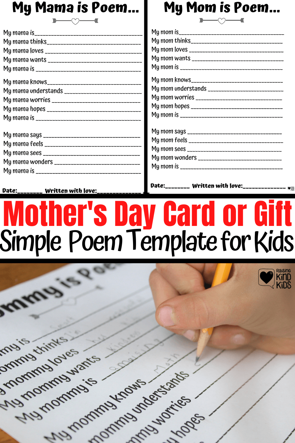 Mother's Day Gifts perfect for our kids to give to us. Print this free printable out and have your kids fill it out or dictate their answers. Can also be used as a perfect Mother's Day card. #mothersday #mothersdaycard #mothersdaygift #mday #Mothers