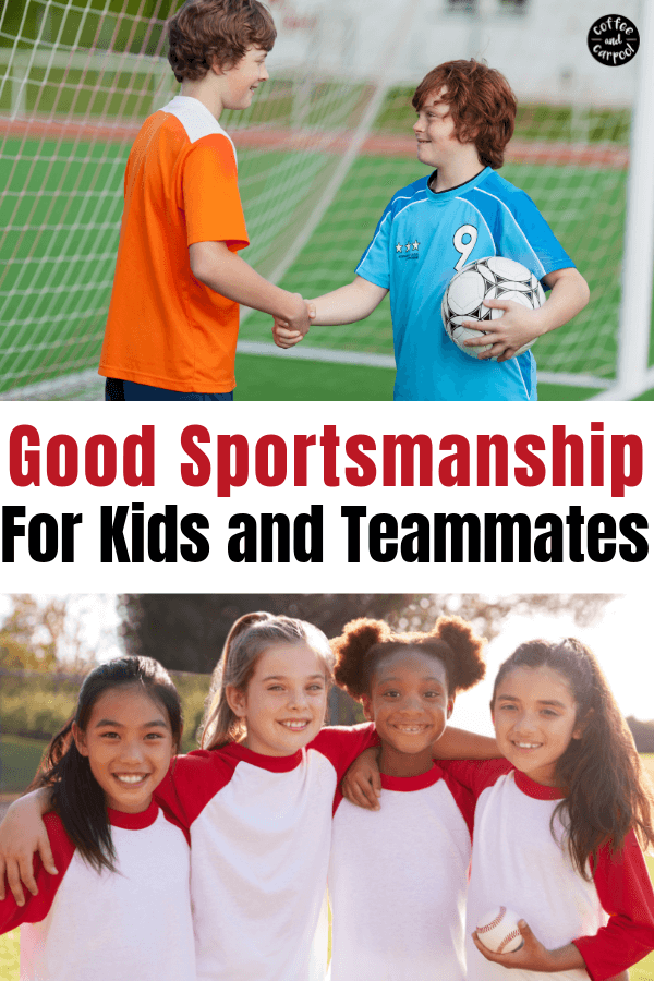 Good sportsmanship for kids and tips to be a good teammate. #goodteammate #kidatheletes #goodsportsmanship #kindkids #kindathletes #coffeeandcarpool #kindness #kindnessmatters