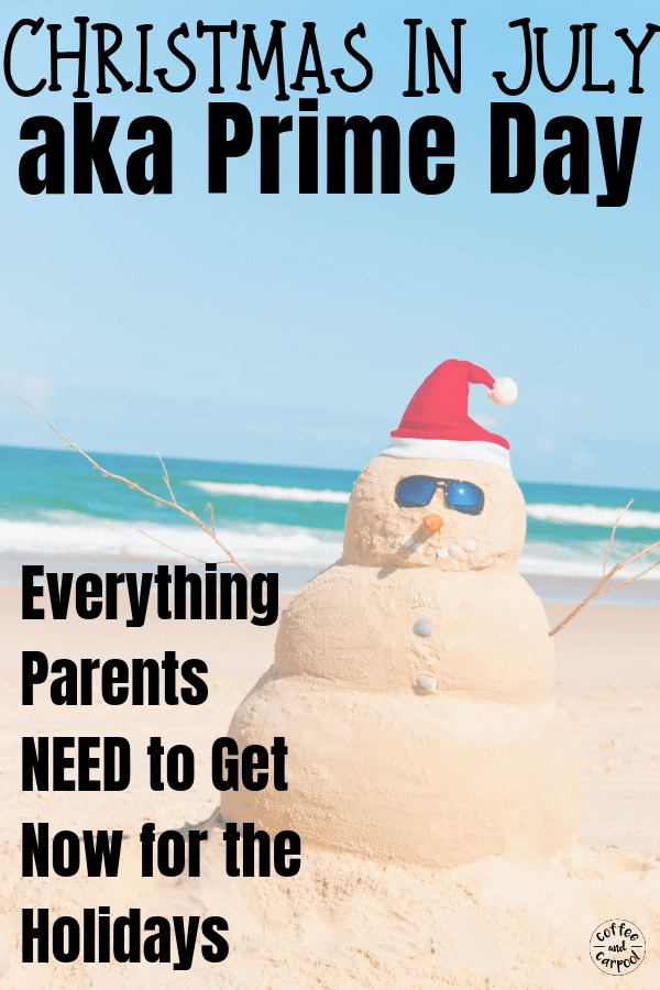 Save money Christmas shopping by shopping early...really early, in July on Amazon's Prime Day. #chrsitmasmoneysaving #savemoney #primeday #primeday2019 #christmaswishlist #christmasshopping #coffeeandcarpool