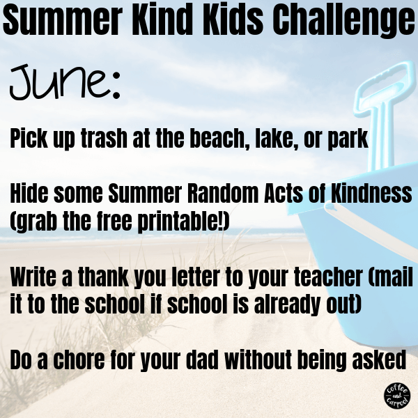 Summer Kind Kids Challenge-June