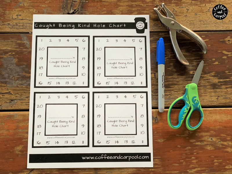 Encourage Kindness in kids with these caught being kind printables because kindness matters#printables #coffeeandcarpool #encouragekindness #raisingkindkids #kindness #kindnessmatters