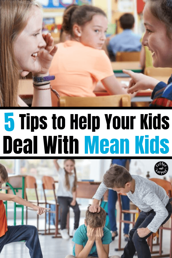 Are your kids dealing with unkind kids on the playground? Use these 5 tips to help your kids deal with mean kids without being mean themselves. Help your kids stay kind because kindness matters. #kindness #kindkids #unkindkids #bullies