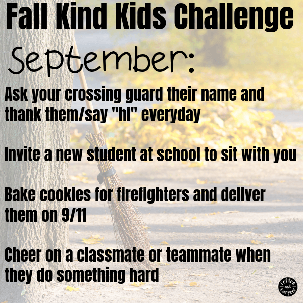 Fall activities for kids wouldn't be complete without a kindness activity...these fall kindness activities are perfect for September, October and November to encourage more kindness. #kindness #kindnessactivities #parenting #kindnesschallenge #kindkids #parenting101 #fallactivities