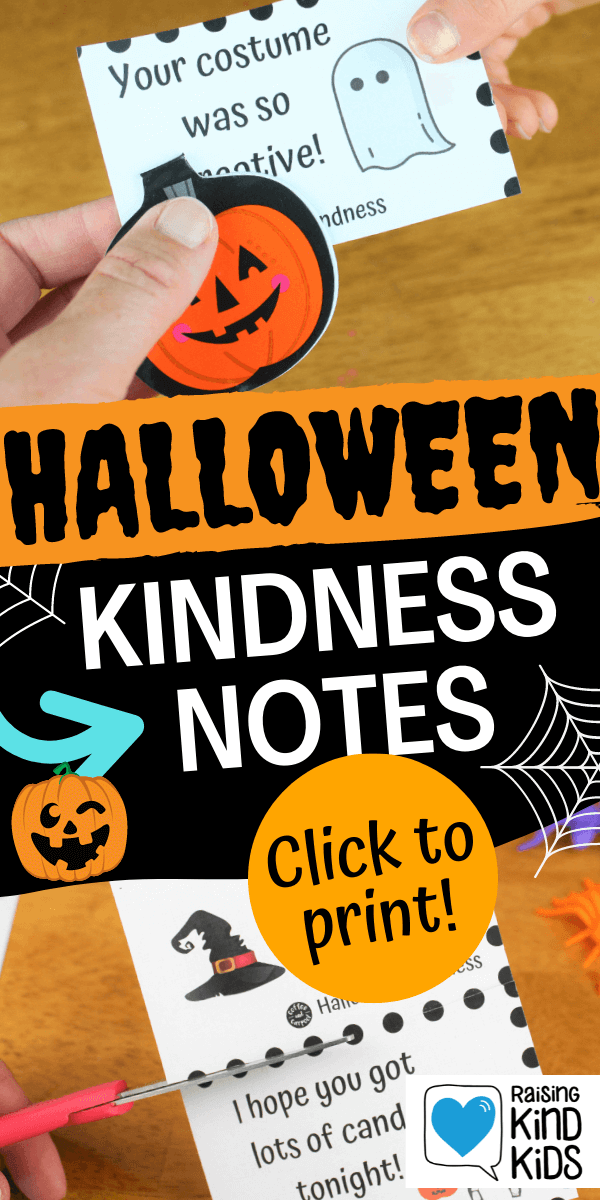 Halloween Kindness Notes to spread kindness this Halloween to trick or treaters. It's the perfect kindness activity for kids #kindness #kindnessactivities #kindkids #kindness #halloween #halloweenactivities