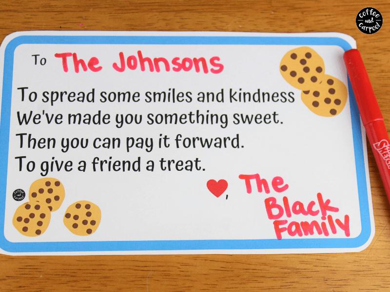 Friendship cookie plate poem