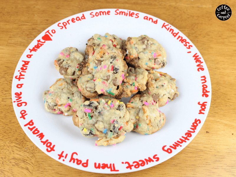 Drop off friendship cookies to neighbors