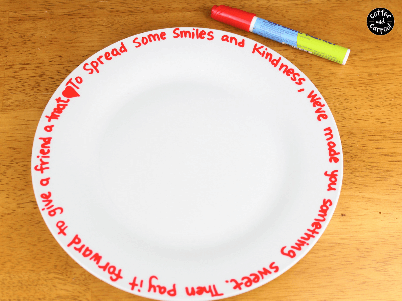 Poem written on plate with ceramic markers