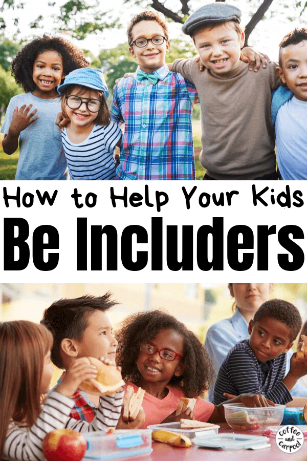 Help your kids spread kindness even when you're not there by helping them become includers, inviters, welcomers. These practical tips will help you know how to prep them so your child will invite others to join in even when you're not there to remind them #kindness #kindnessmatters #kindnessactivitiesforkids #kindkids #inclusion #beanincluder #includeothers #coffeeandcarpool
