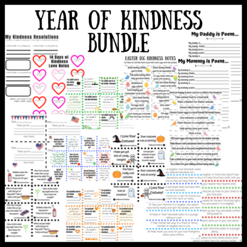 Year of Kindness Bundle with 14 printables