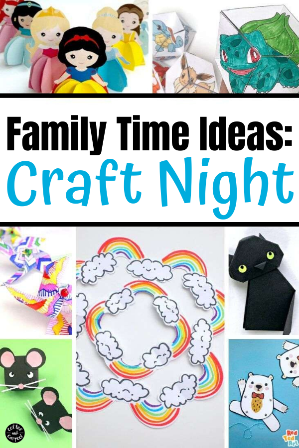 Family time ideas are definitely needed right now...and craft night is a great way to connect families. These craft night ideas are a great way for families to bond, connect and have fun together #craftnight #familynight #familytime #familytimeideas #familycraftnight #familycrafts