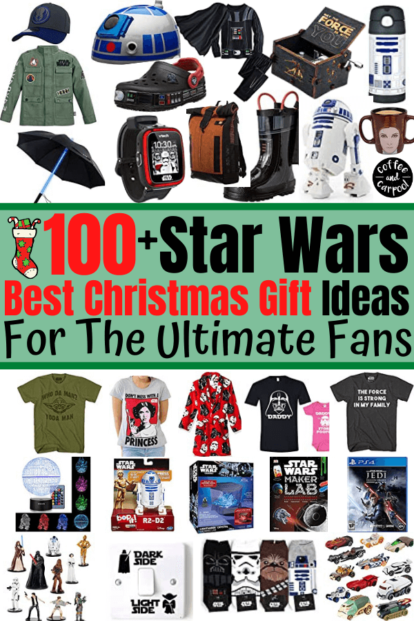 100 of the best Star Wars gifts for the ultimate Star Wars fans and Jedi fighters... including Star Wars books, Star Wars toys and games, Star Wars clothes and Star Wars costumes #Starwars #starwarsgifts #starwarsgiftguide #christmasgifts #Christmasgiftguides #darthvadergifts #jedigifts #giftguides