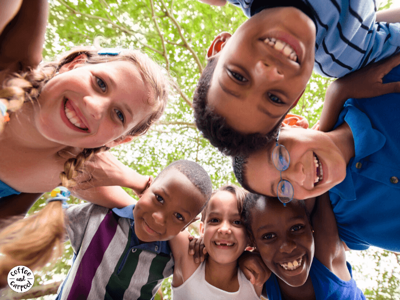 9 Ways to Help Kids Stand Up to Peer Pressure so they can make kinder decisions. Parents need to know these techniques to help their kids know how to help their kids with tricky social situations they will face with their peer groups. #standuptopeerpressure #peerpressure #socialsituations #coffeeandcarpool #kindkids #bullyingprevention #bullying #stopbullying