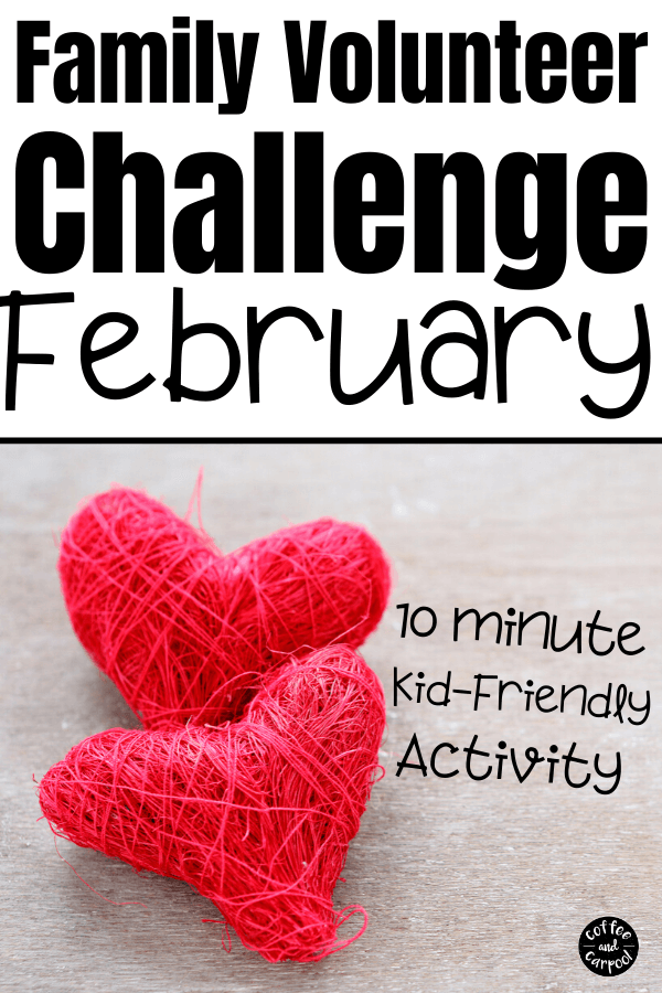 Join our February challenge for our 2020 Family Volunteer Challenge as each month we teach our kids the art and the heart of giving back, donating, volunteering, and community service. It doesn't matter what you call your donations or your volunteering. It's teaching them to give to others because kindness matters. These are 12 kindness activities for kids #kindnessmatters #volunteer #communityservice #giveback #donating #kidvolunteer #tikkunolam #tzedakah #