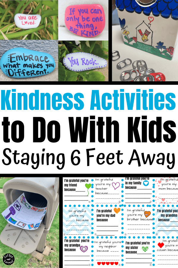 We can continue kindness activities for kids even while we're social distancing and staying 6 feet away from others to keep them and us safe. But kindness doesn't have to suffer because of it. Here's how we can still spread kindness. #kindnessactivities #kidnenssactivitiesforkids #socialdistancingactivities #summeractivities #summeractivitesforkids