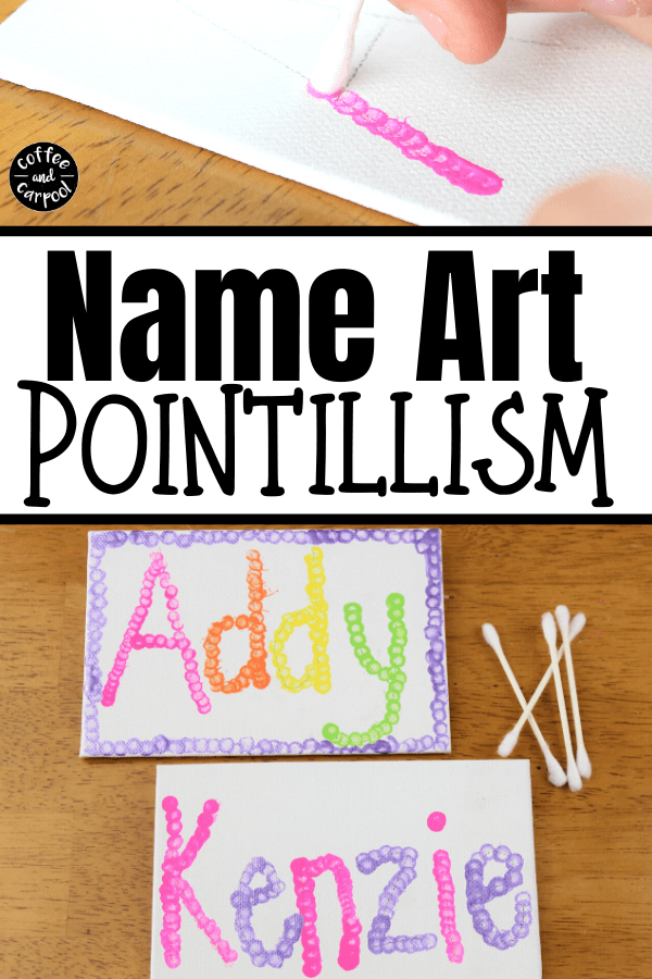 These name art projects for kids are a great project for kids of all ages. You can do name art on canvas for older kids or use dot markers as name art projects for kids in preschool #nameart #nameartprojects #nameartprojectsforkids #fineartproject #boredombuster #summerproject #easysummercraft #easycraftforkids #craftsforkids #simplesummercraftsforkids #projectsforkids