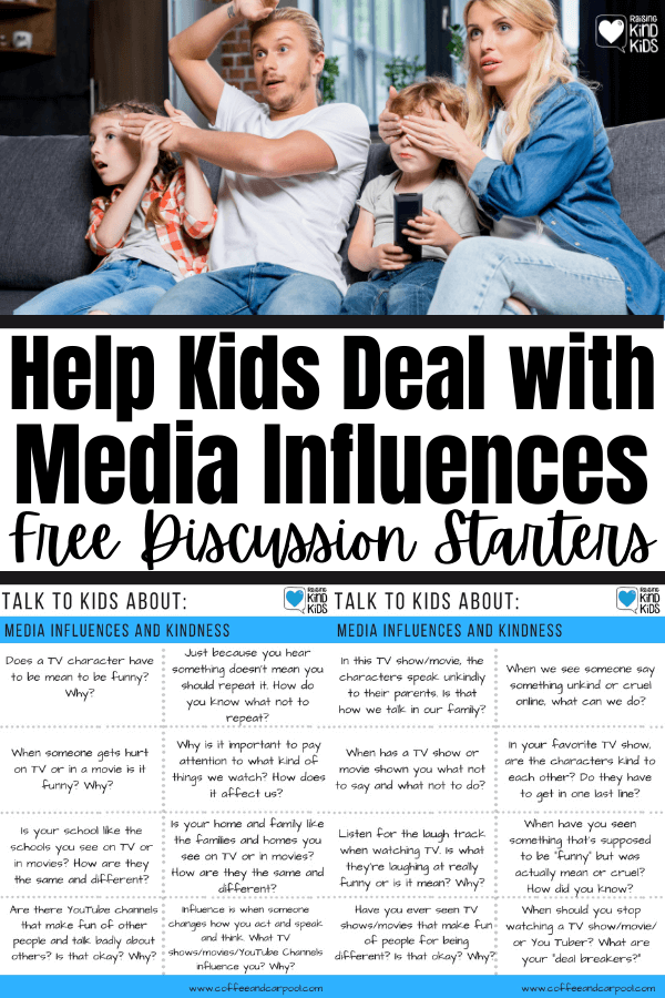 Help kids deal with media influences and ensure the unkindness that happens on the screen doesn't happen in real life.