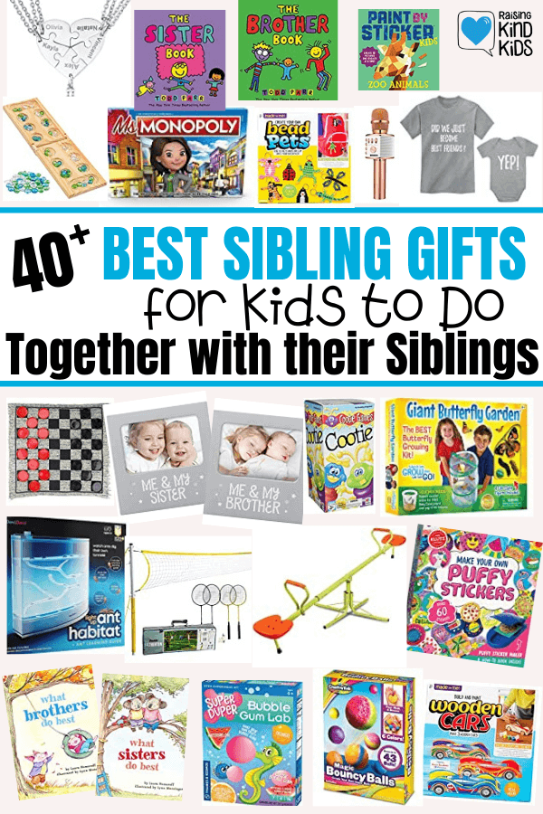 These sibling gifts are perfect for sisters and brothers to give each other or to give to them together so they spend more time together and share interest. It will help sibling relationships build stronger connections.