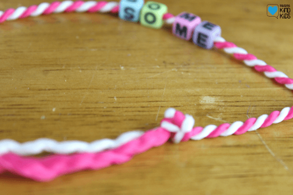 These kindness keychains are a great friendship craft and a fun gift to make for friends as a kindness activity for kids.